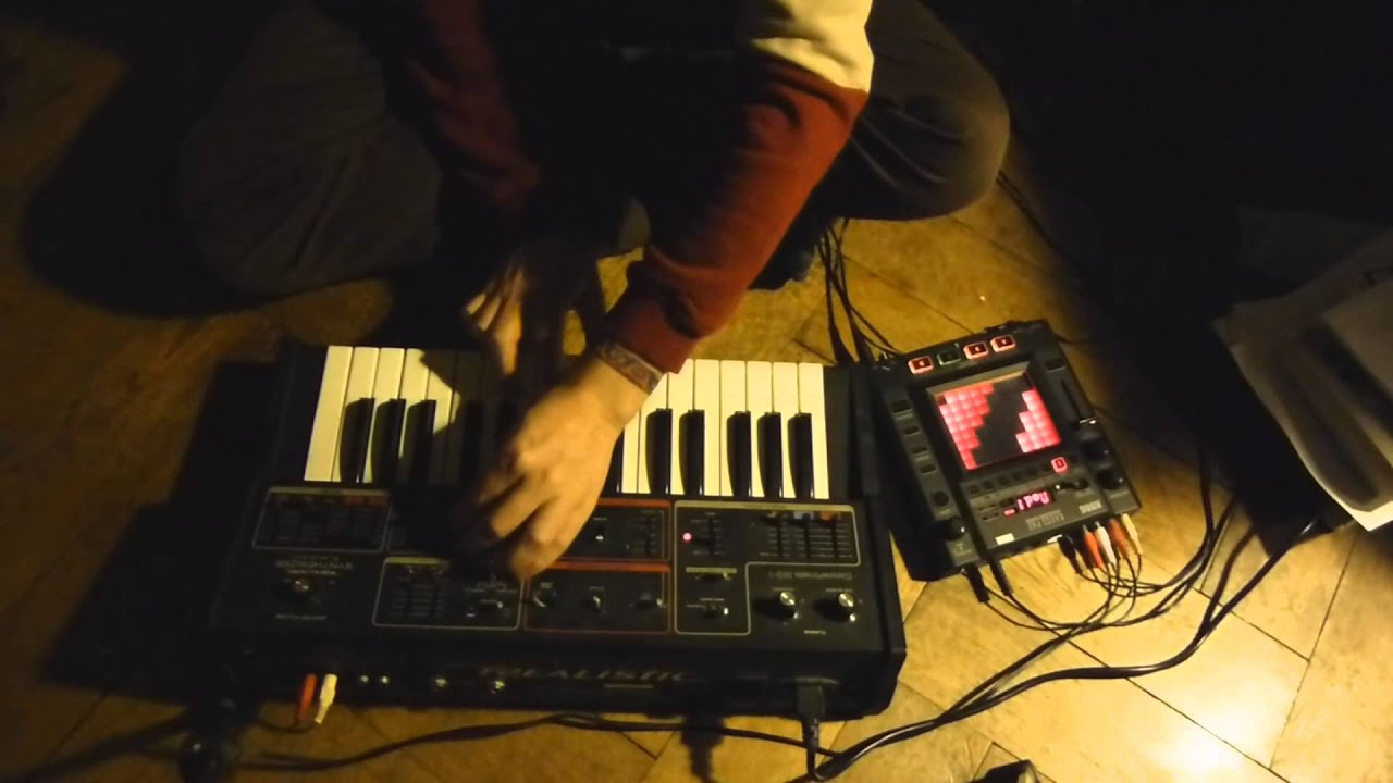 korg kaoss pad 3 moog mg 1 live jam youtube