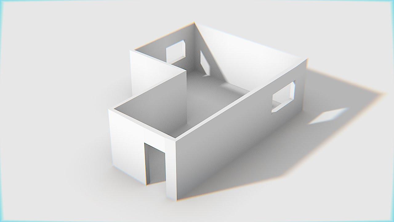 Modelar em blender paredes de uma casa em 3d youtube for Modelar habitacion 3d max