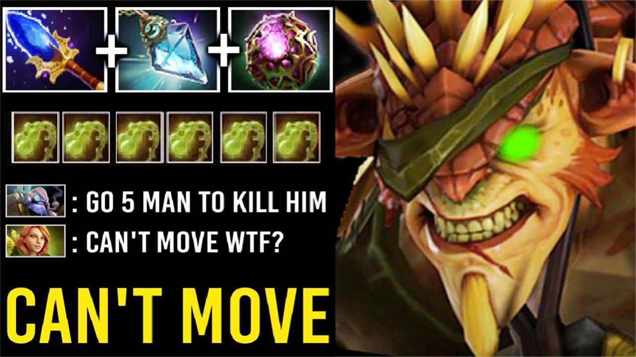 WTF CAN'T MOVE 100% Slow AoE Scepter Prism Bristleback Need 5 Man To Kill Most Imba Hero Dota 2