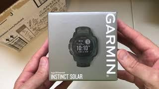 Garmin Instinct Solar Watch (Graphite) Unboxing Video