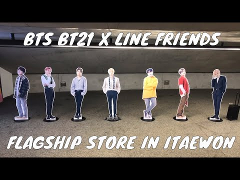 bts-bt21-x-line-friends-|-flagship-store-&-cafe-in-itaewon,-seoul