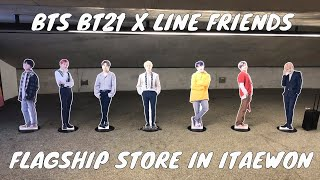 BTS BT21 X LINE FRIENDS | FLAGSHIP STORE & CAFE IN ITAEWON, SEOUL