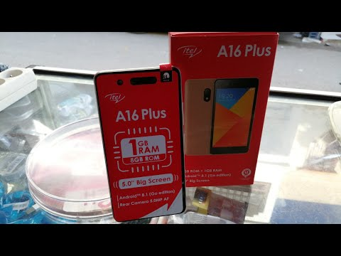 Unboxing itel A16 plus فتح علبة الهاتف الجديد