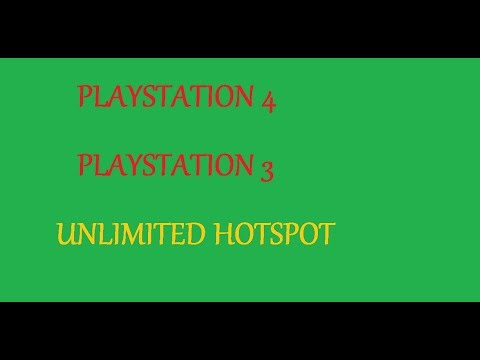 HOW TO GET UNLIMITED MOBILE HOTSPOT FOR PLAYSTATION 4/3