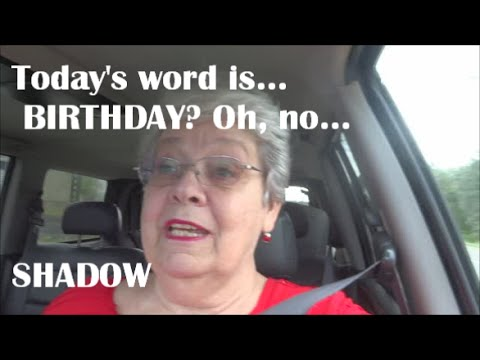 The word today is... birthday! Oh no, SHADOW!!!