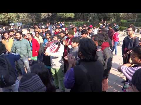 JNUSU's Protest Demo at Freedom Square today,13 Jan 2017