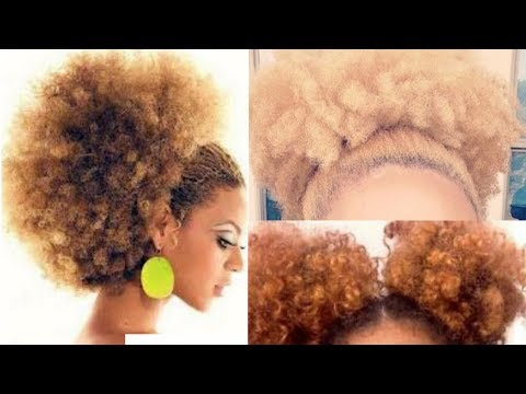 HOW TO MAKE YOUR OWN AFRO PONYTAIL AT HOME | NO DRAWSTRING