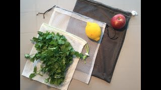 PRODUCE BAGS - Learn how to make your own washable re-usable bags!
