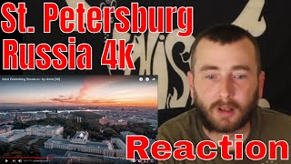 """American reacting to Russian City """"Saint Petersburg, Russia - by drone [4K]"""""""