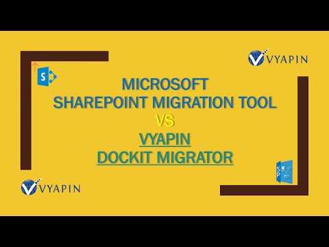 Microsoft SharePoint Migration Tool Vs Vyapin Dockit Migrator