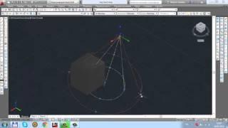 Урок 19  Освещение 3D моделирование в AutoCAD 2014
