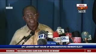 Oshiomole Tells APC Lawmakers-Elect To Support Buhari