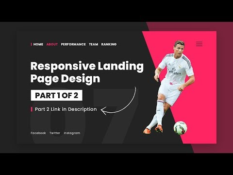 Responsive Landing Page Design Using Html CSS & Javascript | Responsive Website