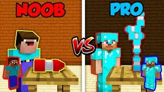 Minecraft NOOB vs. PRO BOTTLE FLIP in Minecraft