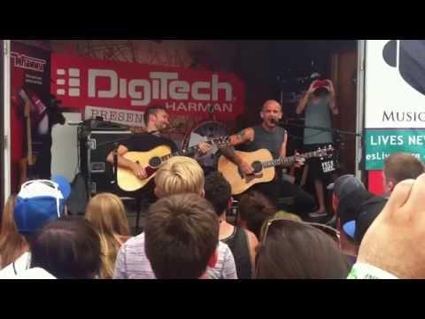 Rise Against Survive acoustic at Vans Warped Tour 2012