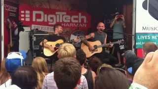 Rise Against Survive acoustic at Vans Warped Tour 2012