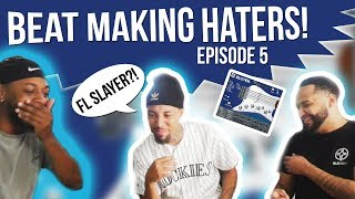 FL SLAYER THO?! LOL! REACTING TO MY FRIEND'S FIRST BEAT AS A PRODUCER!