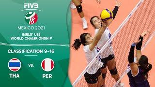 LIVE 🔴 THA vs. PER -  Class. 9-16 | Girls U18 Volleyball World Champs 2021