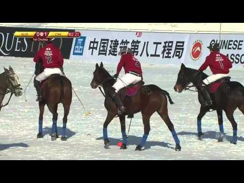 Snow Polo World Cup 2014 - Australia vs Chile (1st Chukka)