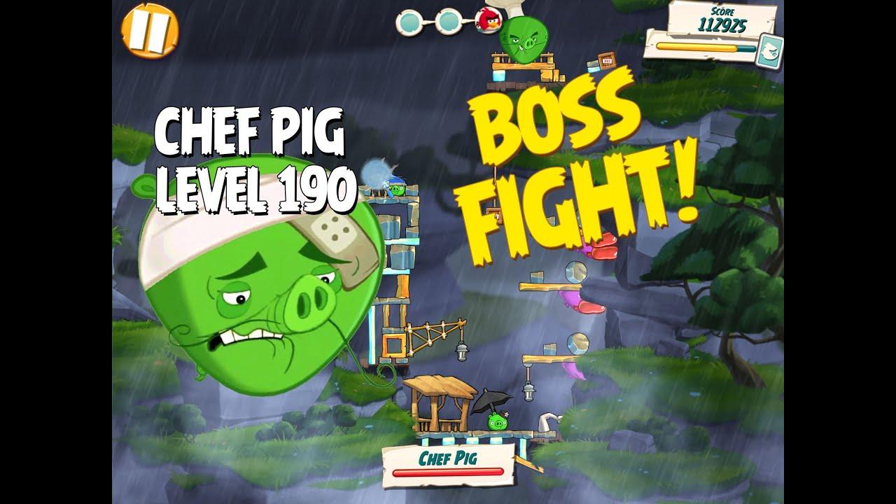 Boss Fight #19! Chef Pig Level 190 Walkthrough