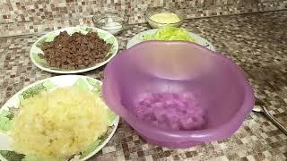 Рецепт вкусного мясного салата с редькой КАНТРИ.