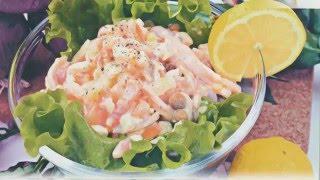 Новогодние салаты новые рецепты салатов на НОВЫЙ ГОД  2017 Праздничный салат c кальмарами рецепт NEW