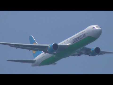 Uzbekistan Boeing 767-300 VOR approach to JFK airport
