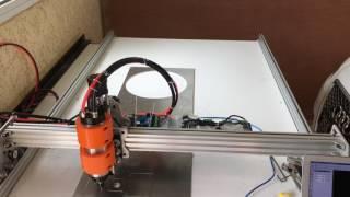 Découpe d'un chariot sur de l'alu 4 mm avec ma CNC
