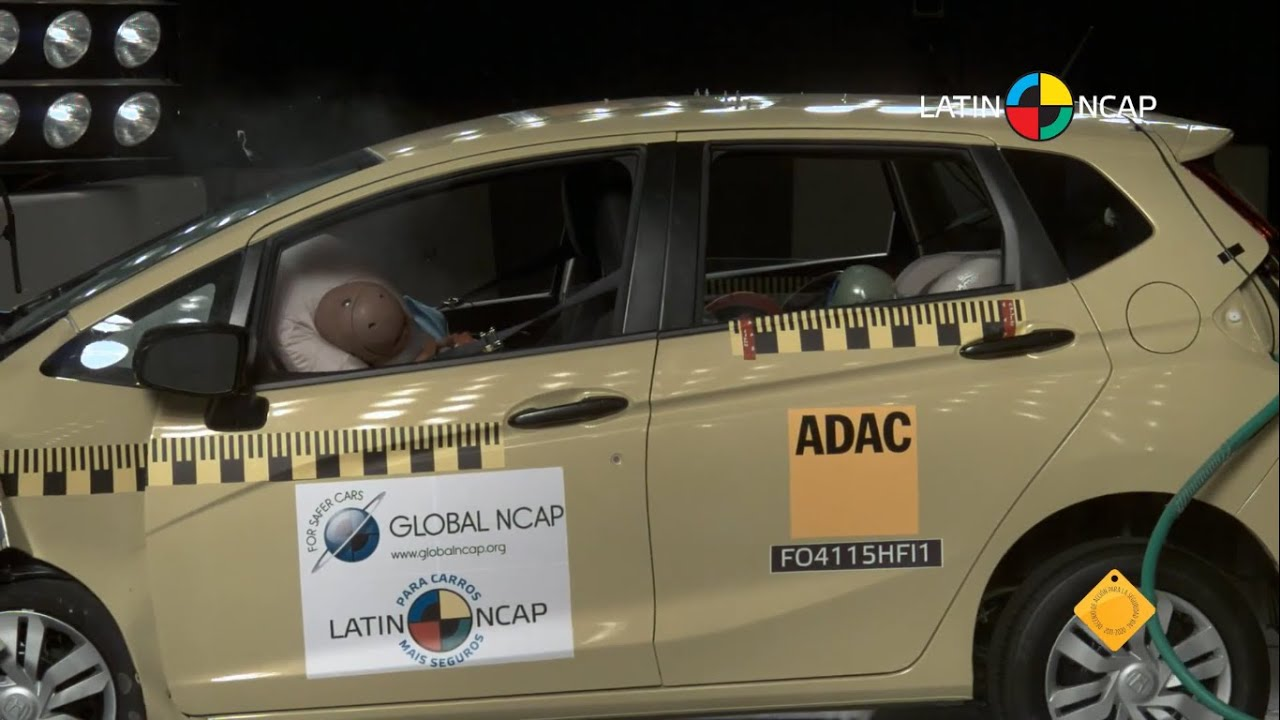 LATIN NCAP   Honda Fit + 2 Airbag / 5 Star Safety Rating