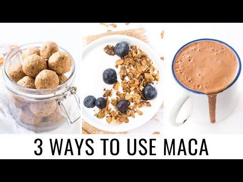 HOW TO USE MACA POWDER | 3 healthy recipes