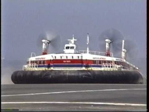 1991.08 Hoverspeed dover calais ferry service - hovercraft