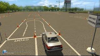 Экзамен на автодроме - Разворот в ограниченном пространстве (ошибка в видео описана в комментарии)