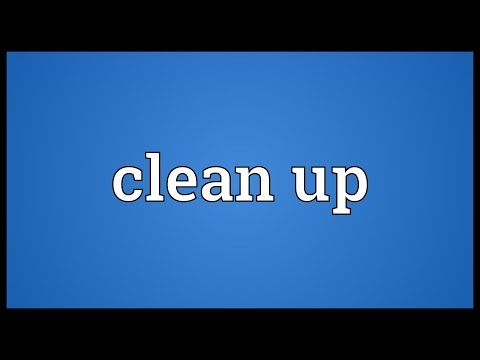 Clean up Meaning