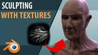 Sculpting with Textures | Blender | Quick Tutorial