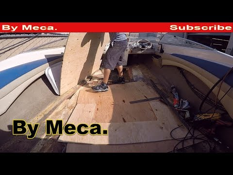 How to fix a rotten boat floor. | How to Repair  Boat Sun Deck