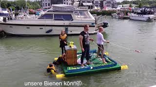 Verrückte Floßaktion (Flying Dutchman 2018, Marina Rünthe, Hafenfest Bergkamen)