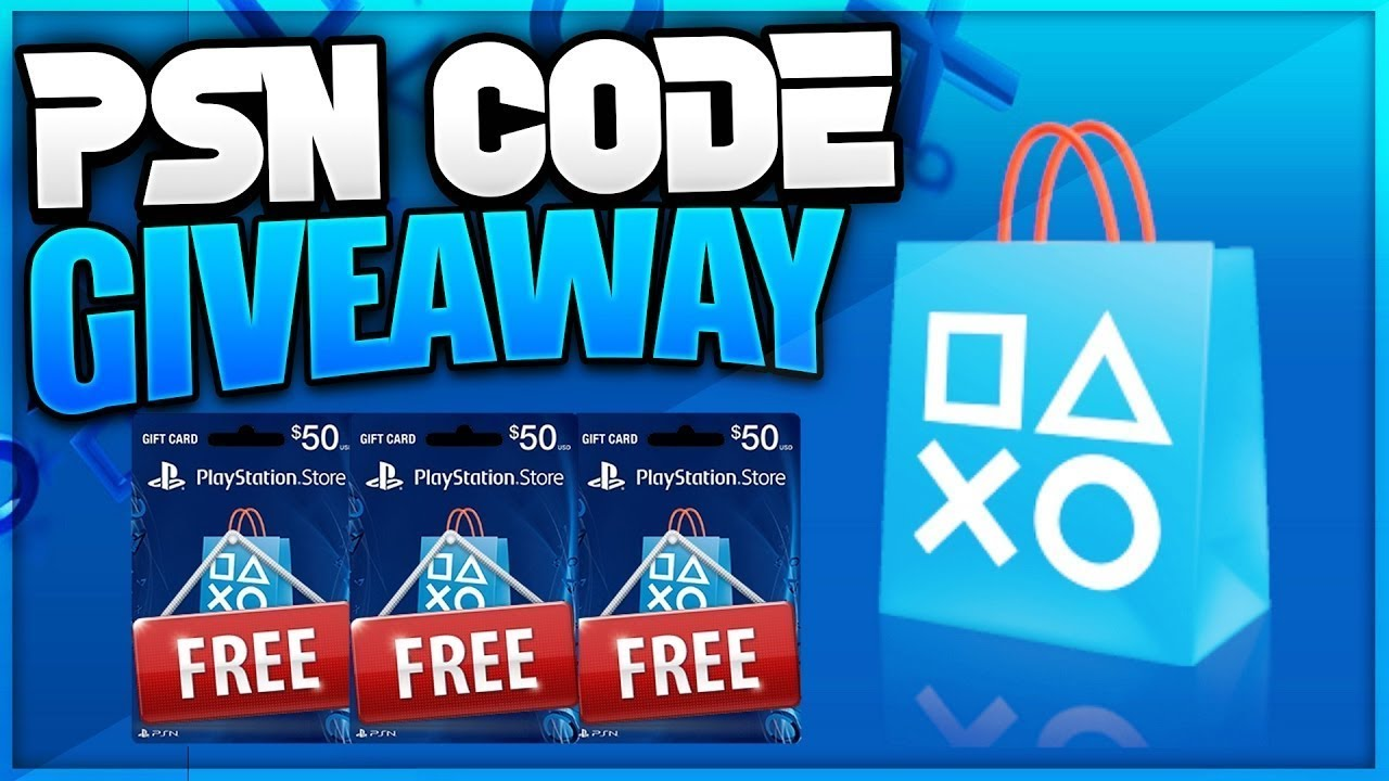 Free psn card codes giveaways