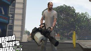 GTA 5 PC MOD - Team Fortress 2 'Heavy' MiniGun MOD
