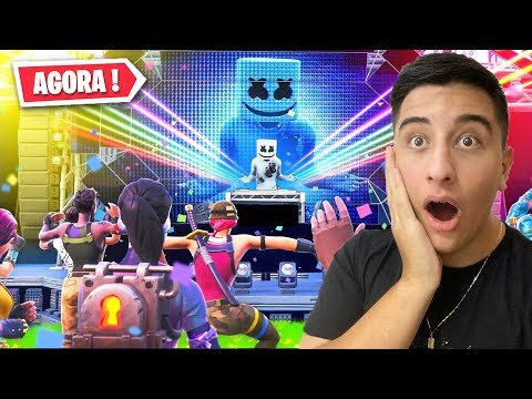 *AGORA* Evento Ao Vivo Do Marshmello No Fortnite