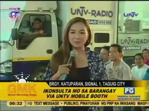UNTV's public service to  Brgy. Katuparan, Signal 1 in Taguig City