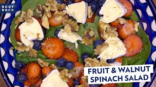 Easy Recipes: Fruit and Walnut Spinach Salad