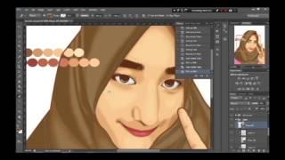 Tutorial Vektor Drawing and Shading Hijab for Photoshop Cs6