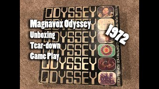 1972 Magnavox Odyssey UNBOXING, Tear-down, and Game Play