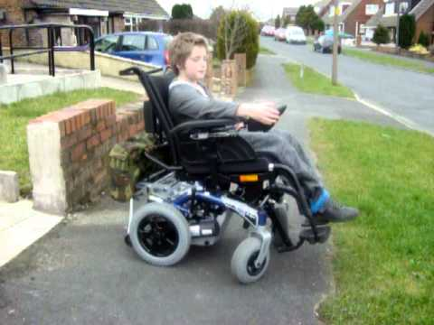 Jamie in my faulty invacare dragon youtube