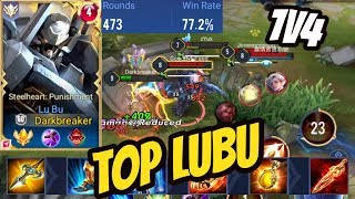 TOP LUBU NEW PRO BUILD 1V4 - Best Lu Bu Gameplay | AoV | 傳說對決 | RoV | Liên Quân Mobile