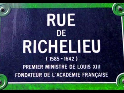 Rue de Richelieu Paris Arrondissements  1er et 2e