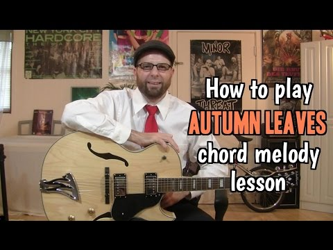 Easy Autumn Leaves Chord Melody Lesson