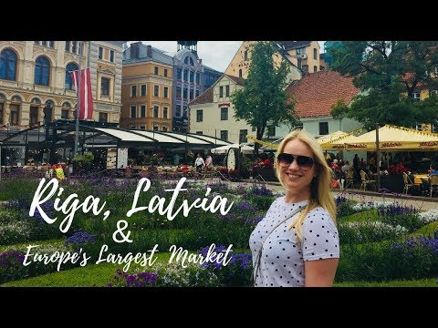 Exploring Riga and Europe's Largest Market - Travel Vlog and Guide! | (American Living in Riga)
