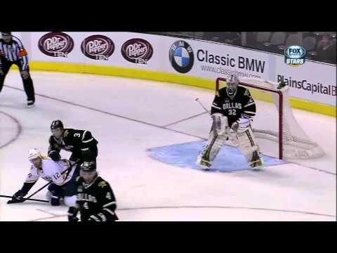 Mike Fisher Vs Stephane Robidas Fight Mar 12 1013 Nashville Predators Vs Dallas Stars NHL Hockey