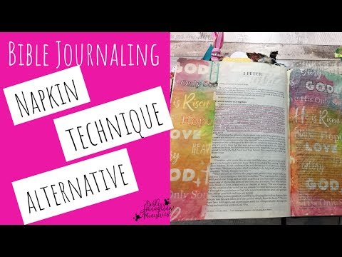 How to Apply Printed Tissue Paper to Your Bible - Alternative Napkin Technique for Bible Journaling
